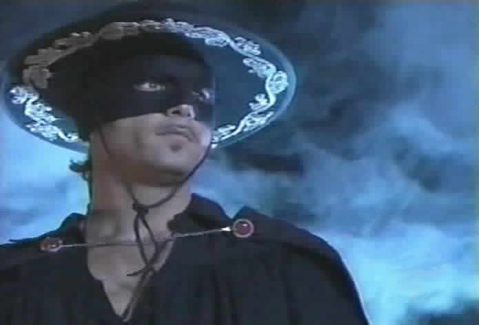 Zorro arrives to rescue Miguel.