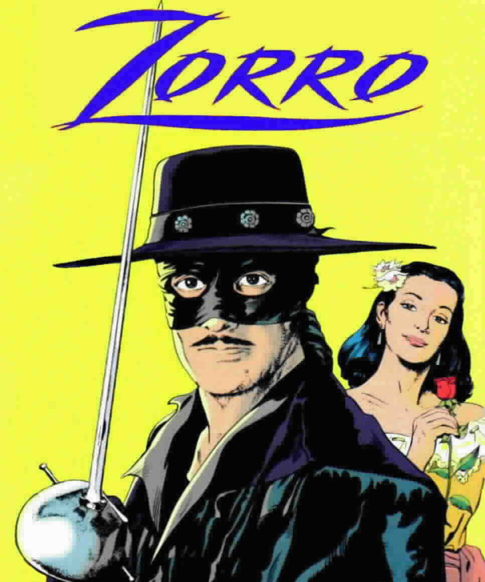 Zorro and his love interest, Victoria, from the New World Zorro